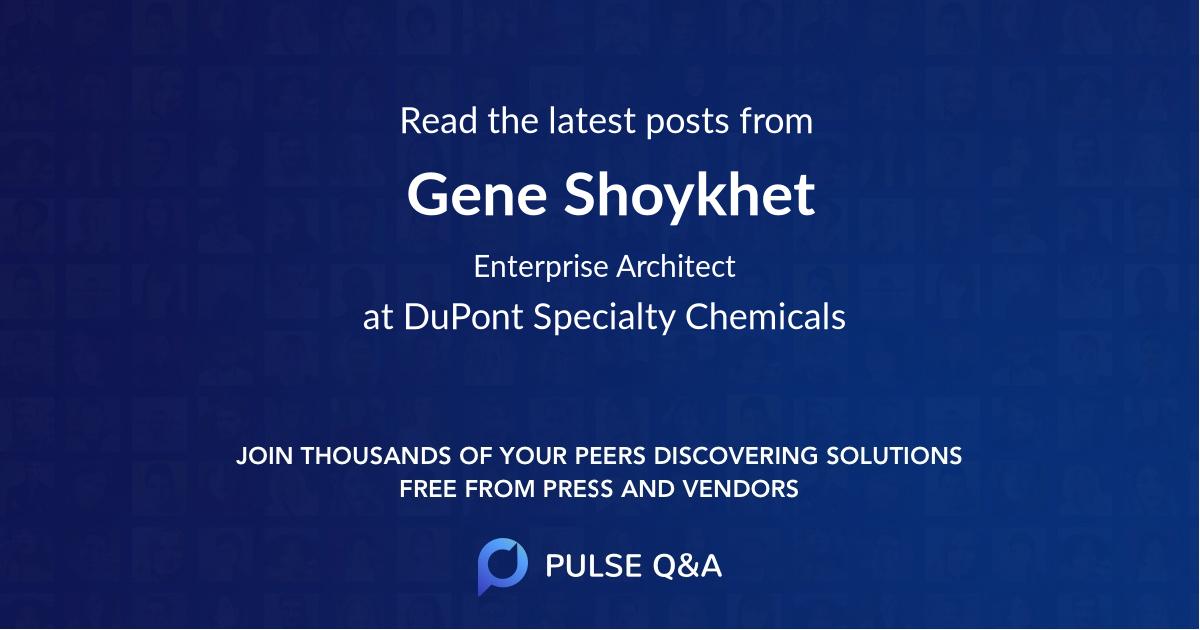 Gene Shoykhet