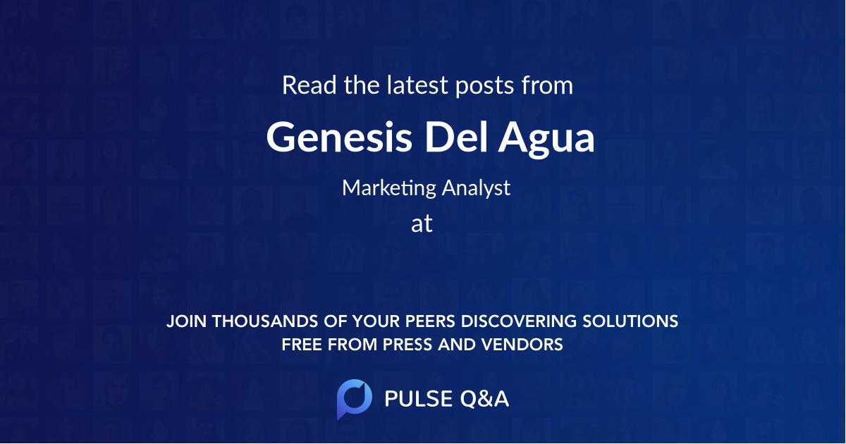 Genesis Del Agua