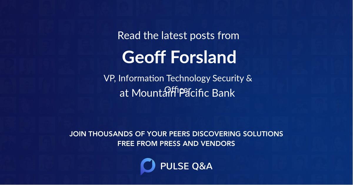 Geoff Forsland