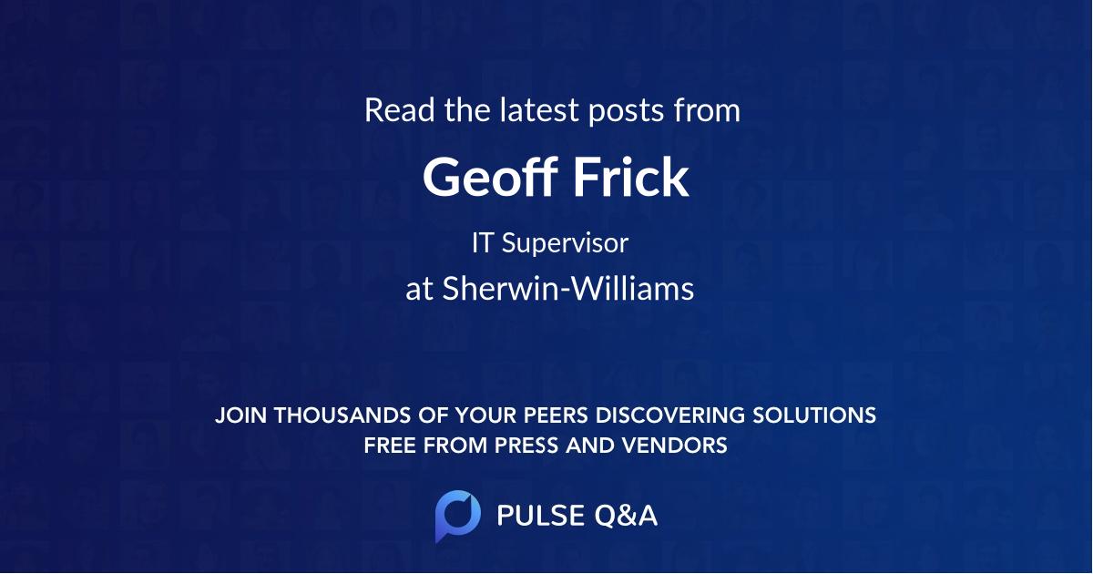 Geoff Frick