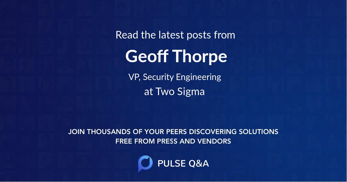 Geoff Thorpe