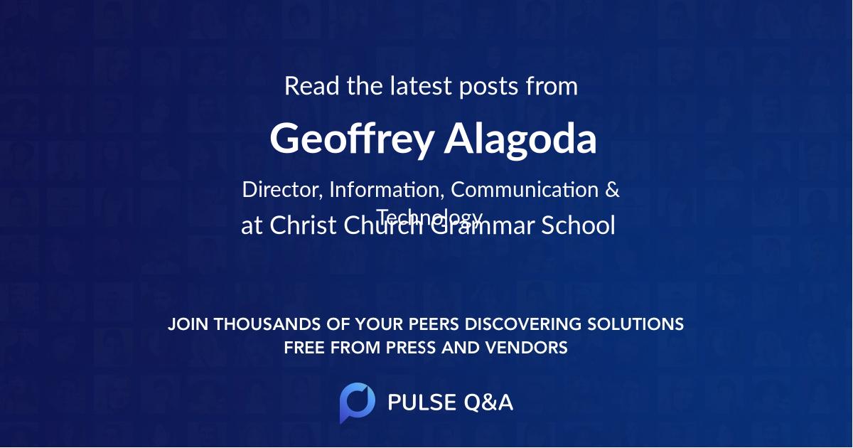 Geoffrey Alagoda