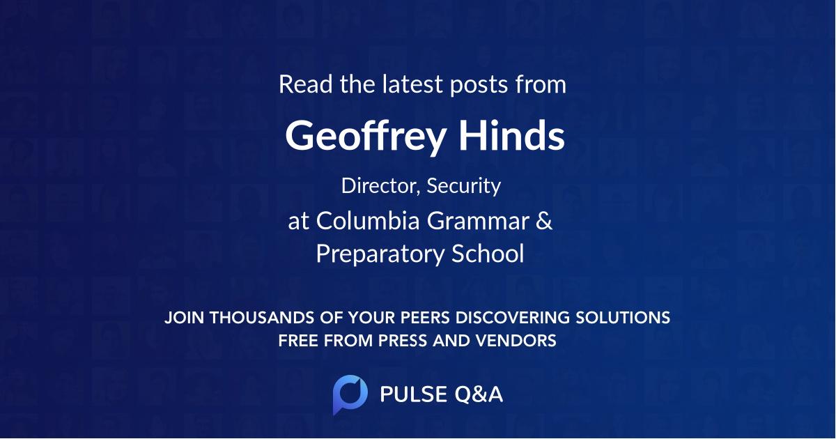Geoffrey Hinds