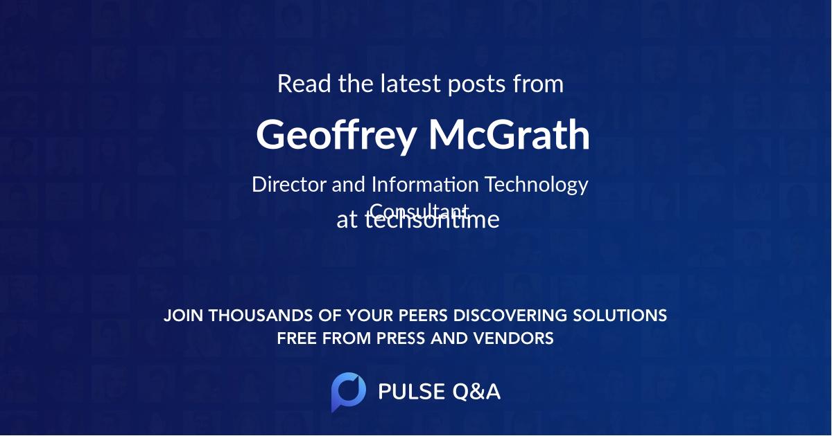 Geoffrey McGrath
