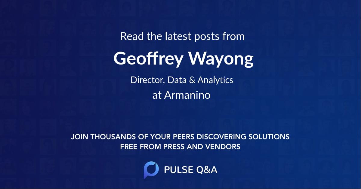 Geoffrey Wayong
