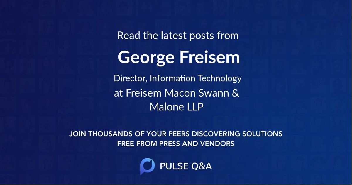 George Freisem