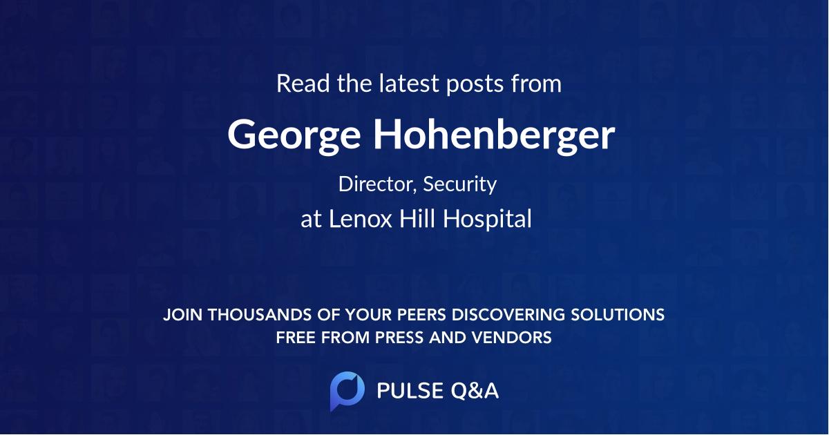 George Hohenberger