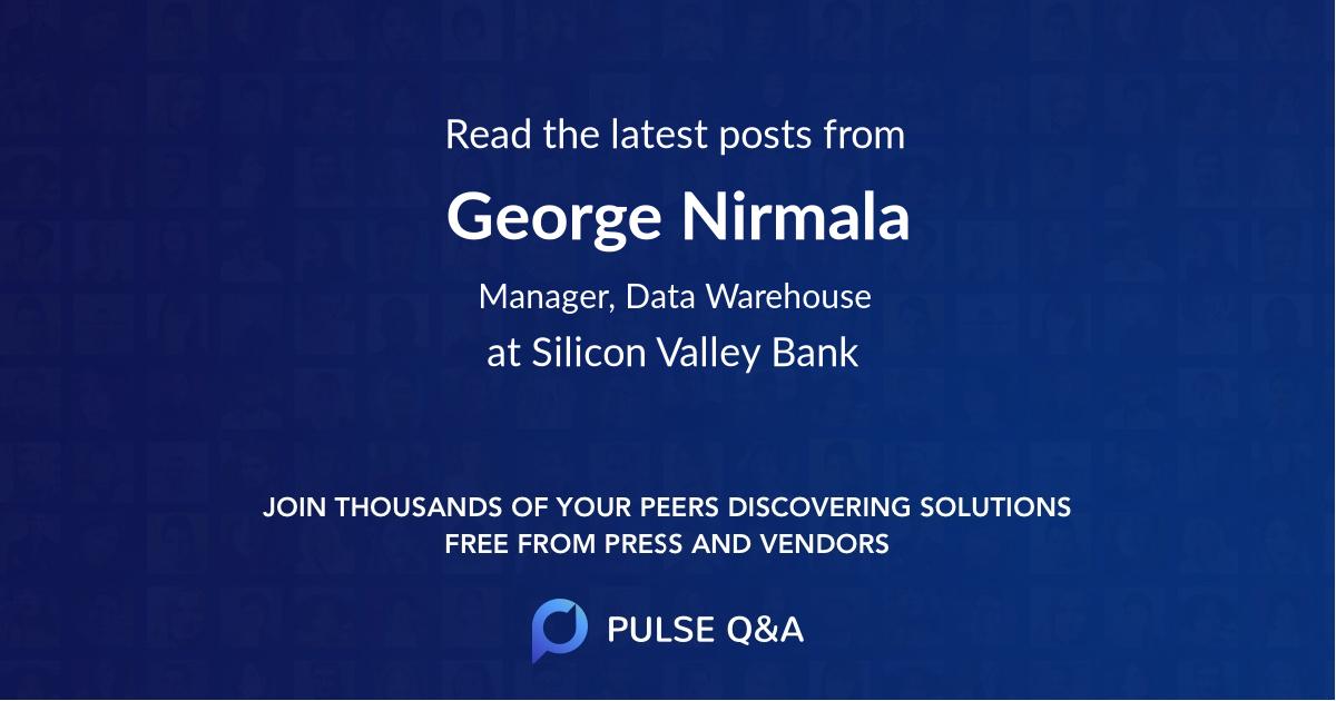 George Nirmala