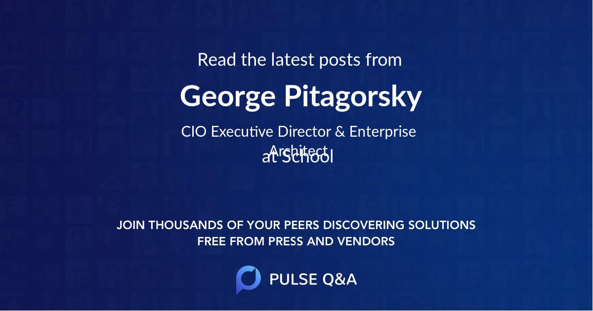 George Pitagorsky