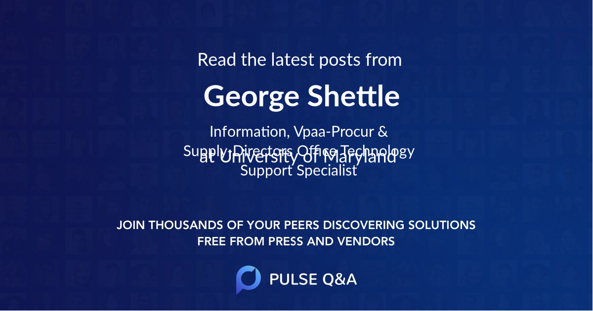 George Shettle