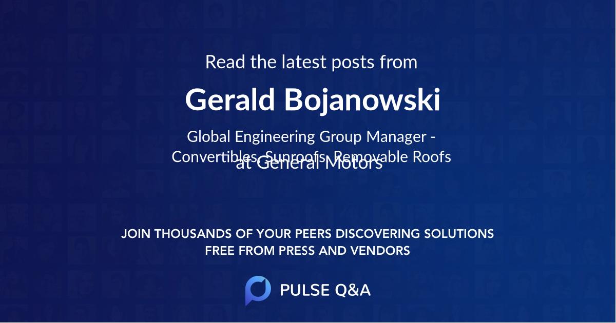 Gerald Bojanowski