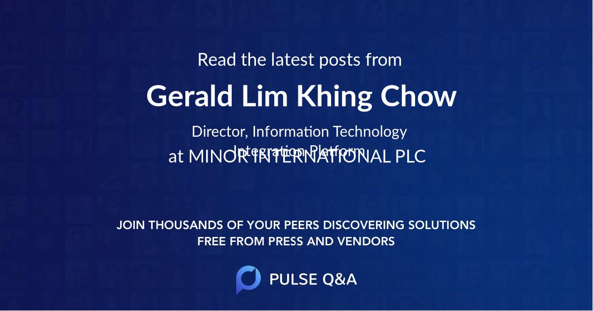Gerald Lim Khing Chow