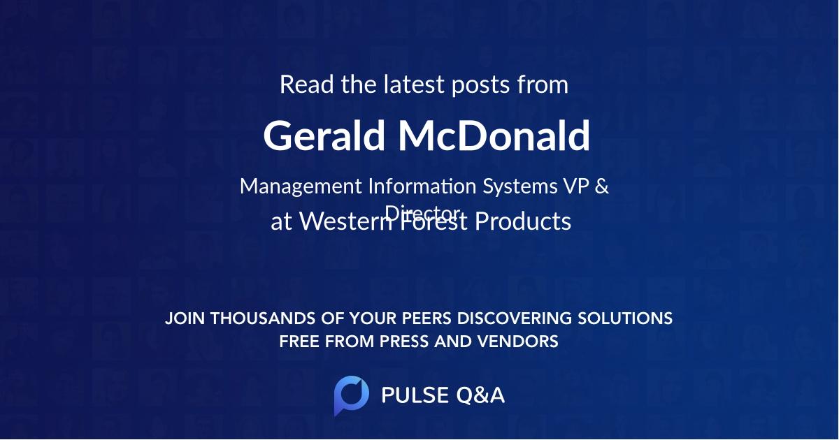 Gerald McDonald