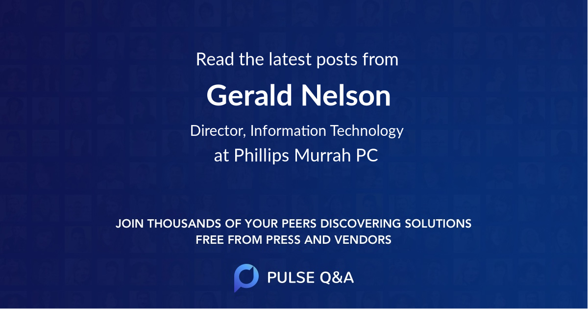 Gerald Nelson
