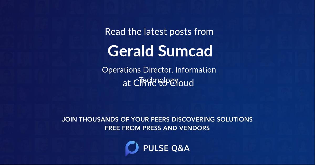 Gerald Sumcad
