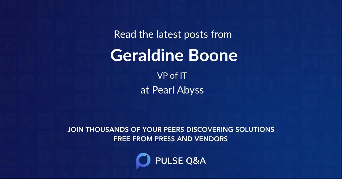 Geraldine Boone