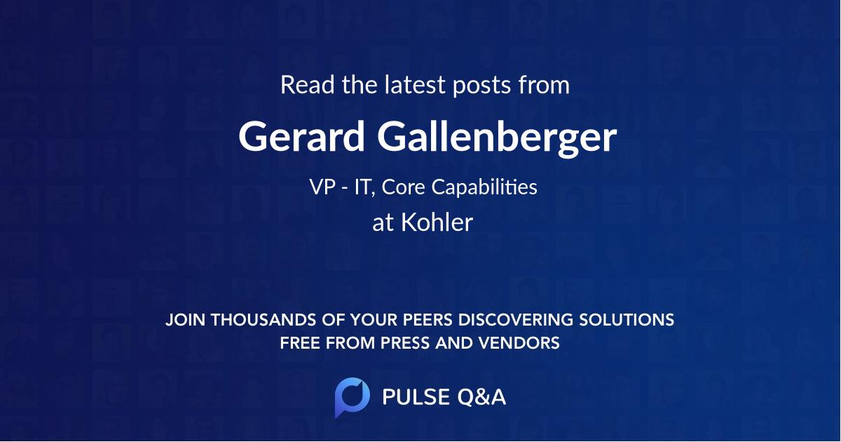 Gerard Gallenberger