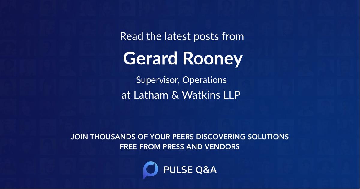 Gerard Rooney
