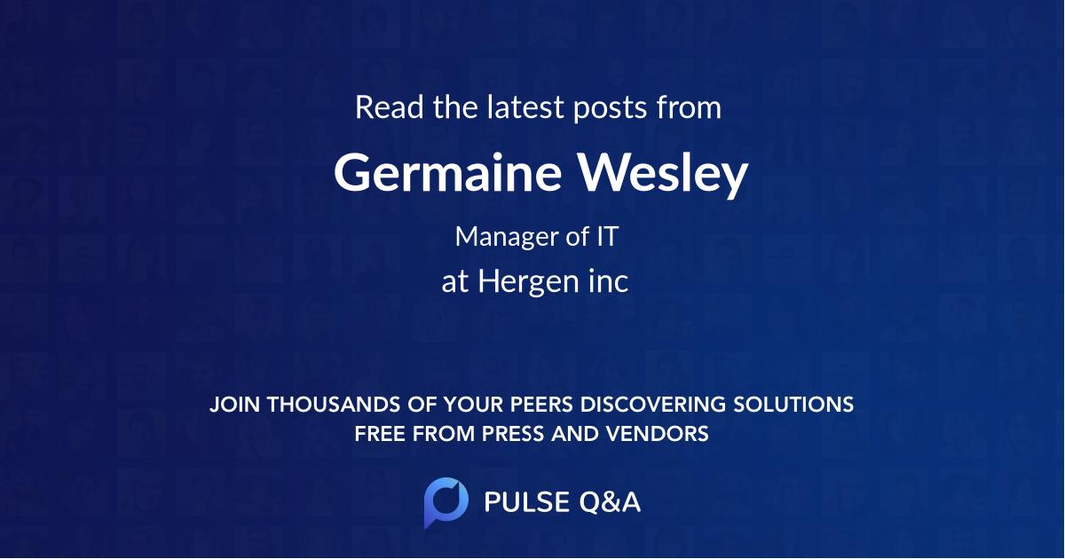 Germaine Wesley