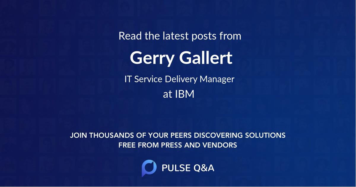 Gerry Gallert