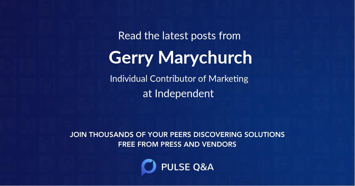 Gerry Marychurch