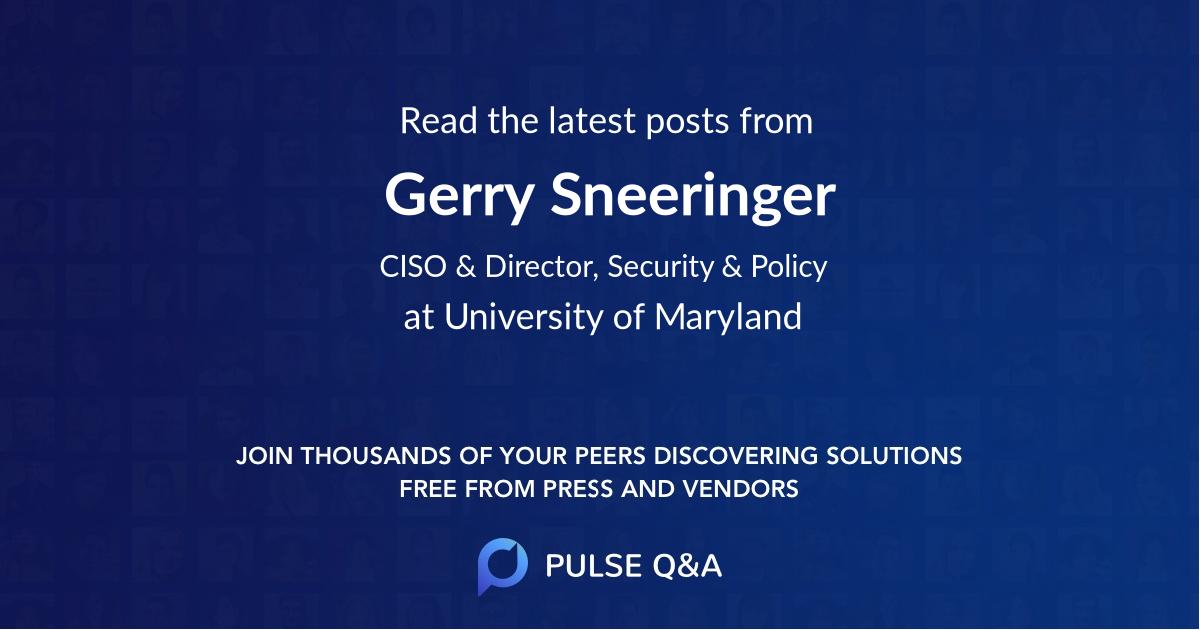 Gerry Sneeringer