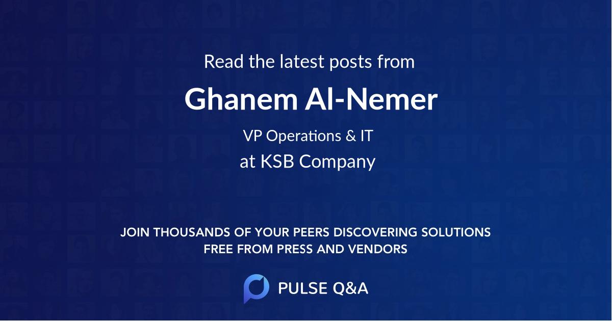 Ghanem Al-Nemer