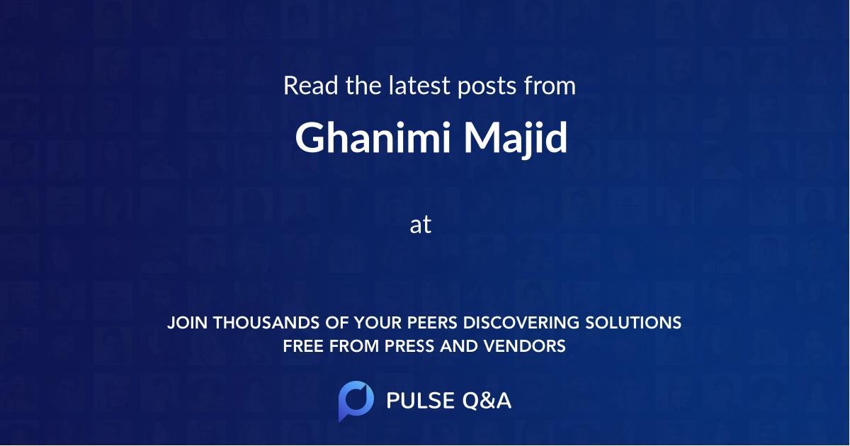 Ghanimi Majid