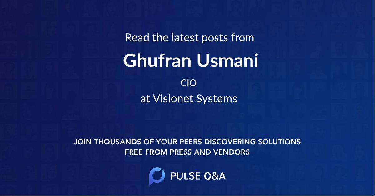 Ghufran Usmani