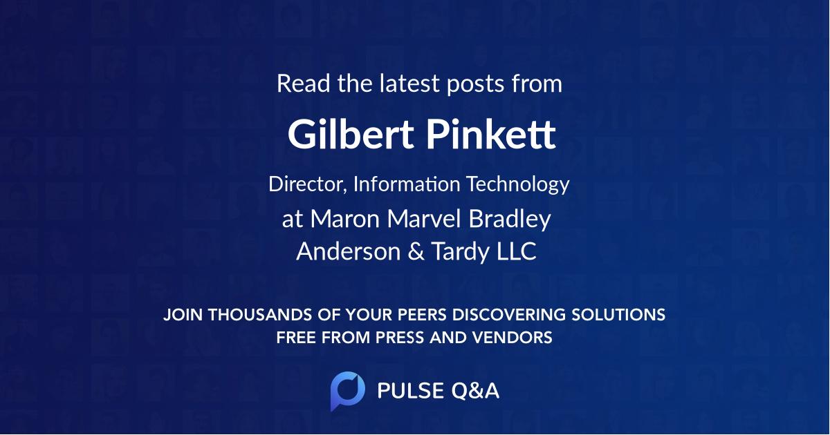 Gilbert Pinkett