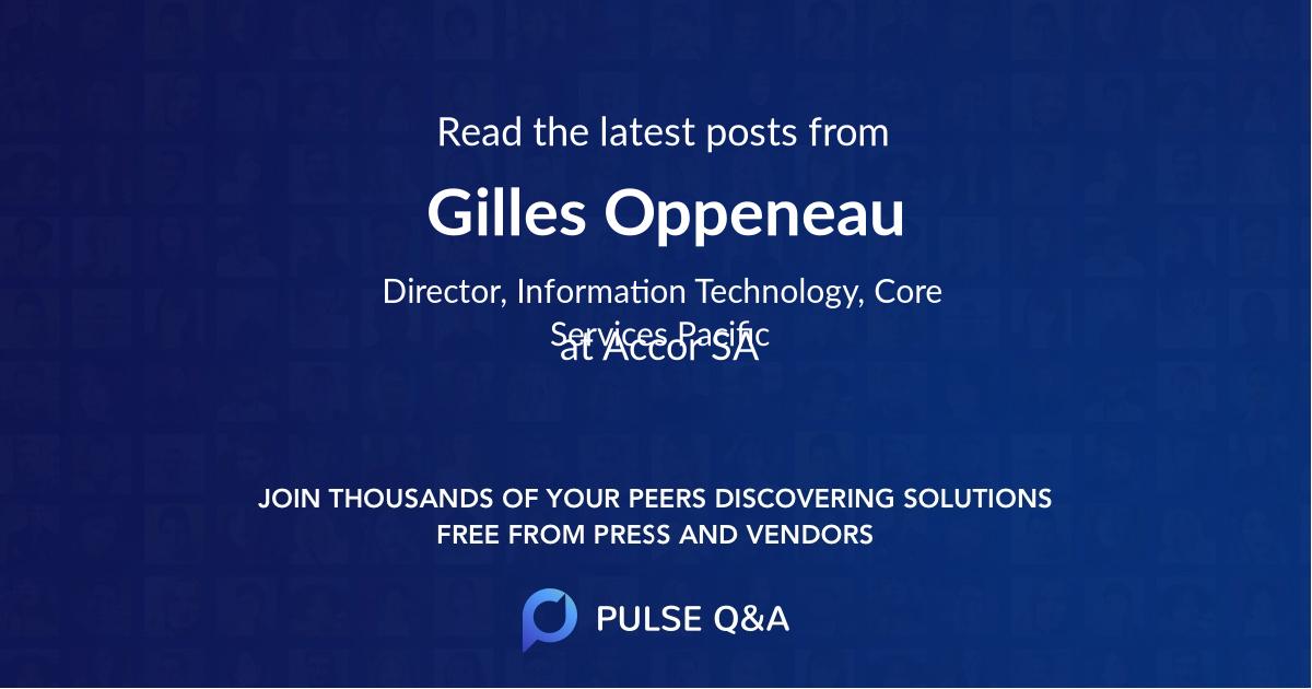 Gilles Oppeneau