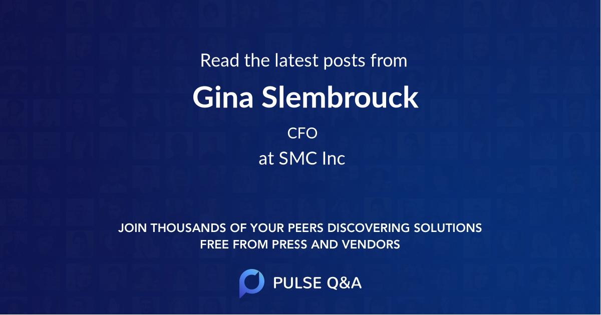Gina Slembrouck