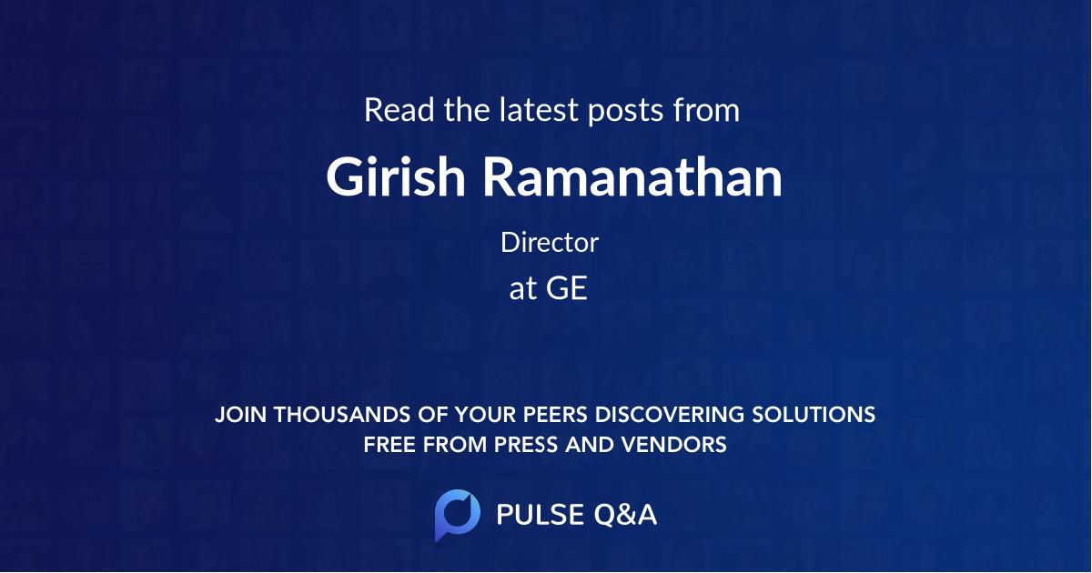 Girish Ramanathan