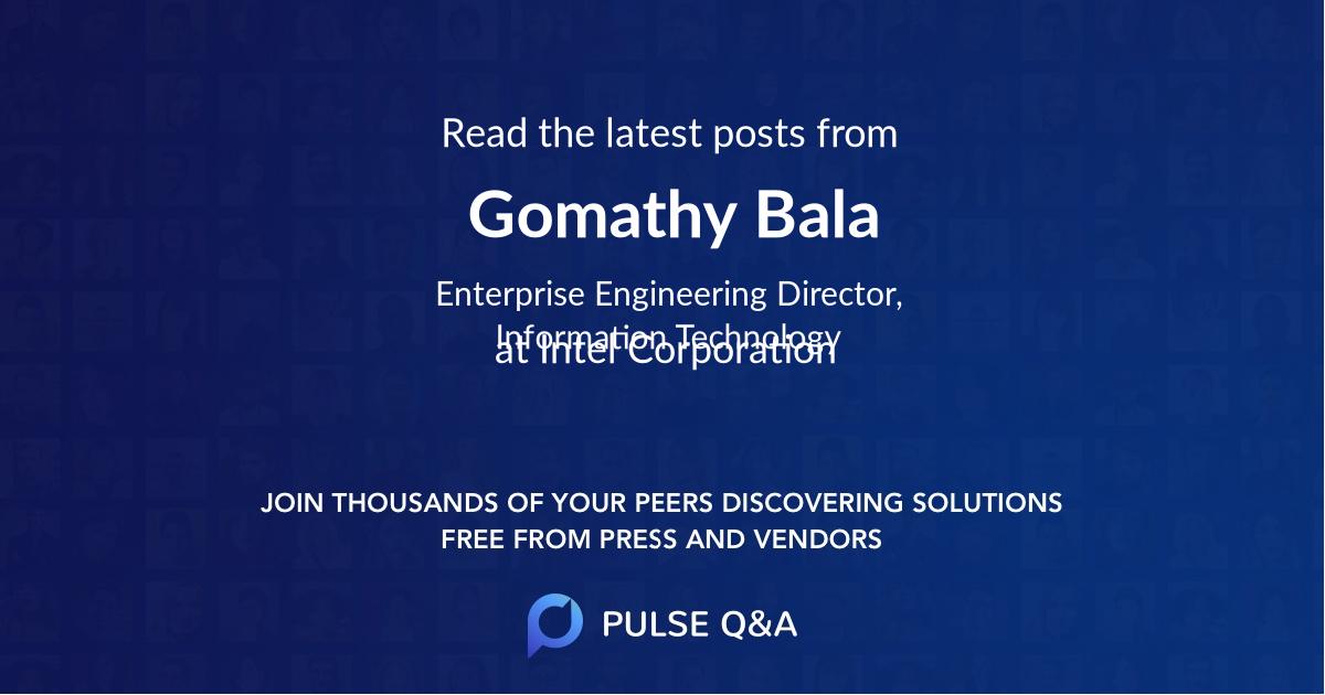 Gomathy Bala