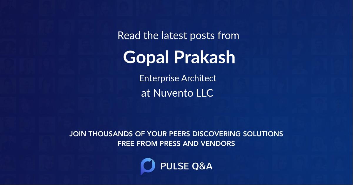 Gopal Prakash