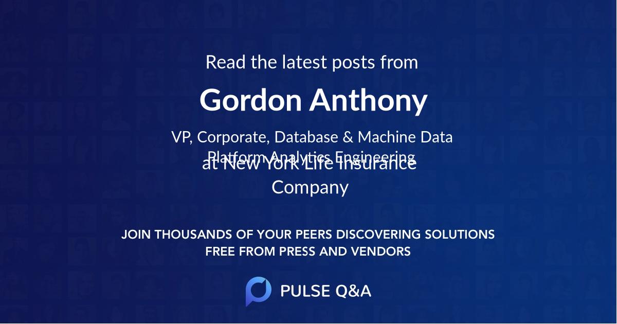 Gordon Anthony