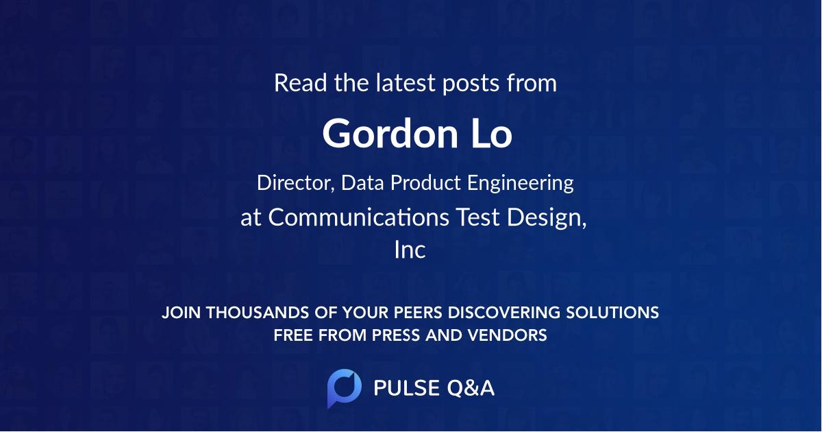 Gordon Lo