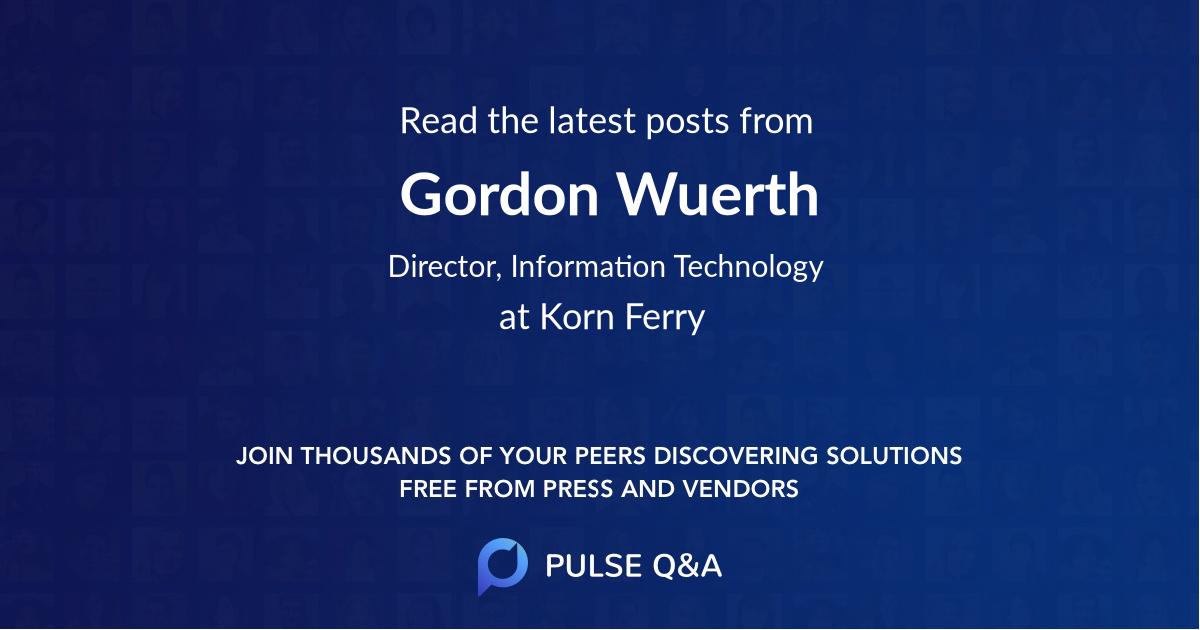 Gordon Wuerth