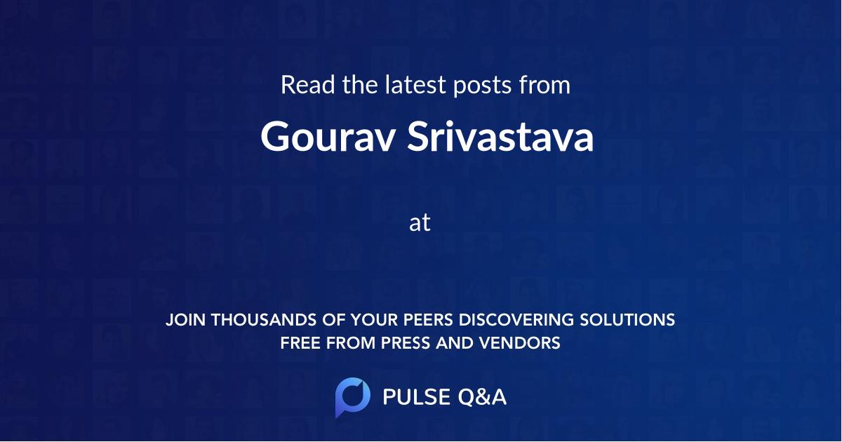 Gourav Srivastava