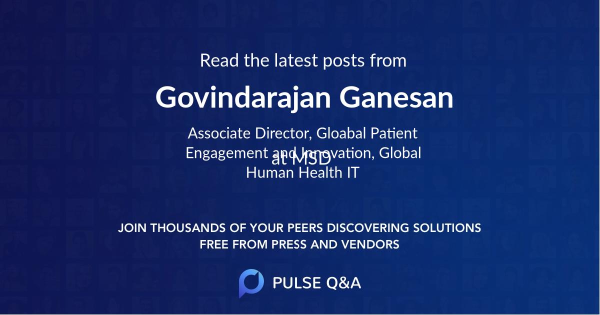 Govindarajan Ganesan