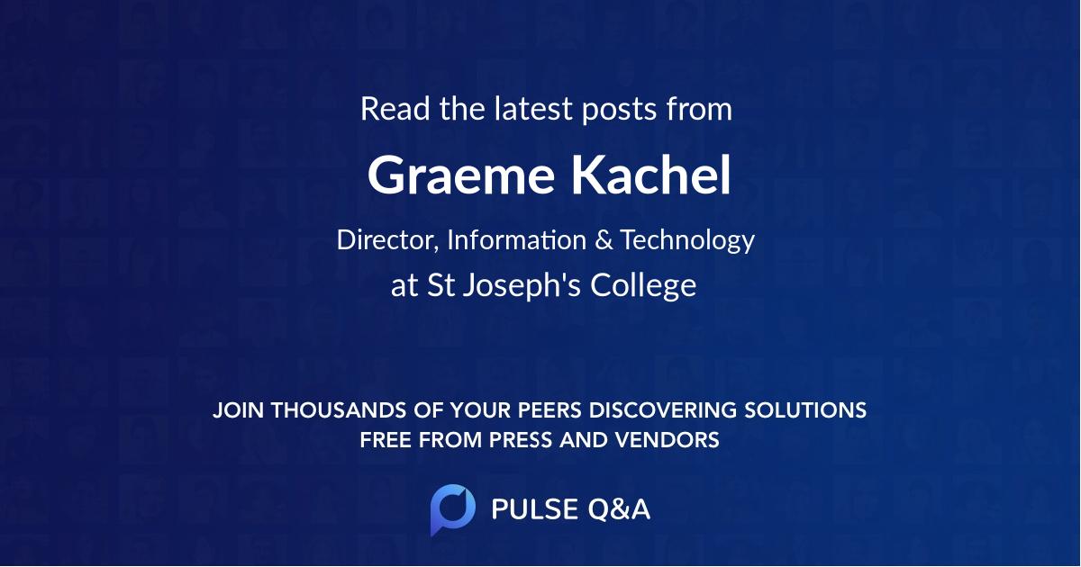 Graeme Kachel