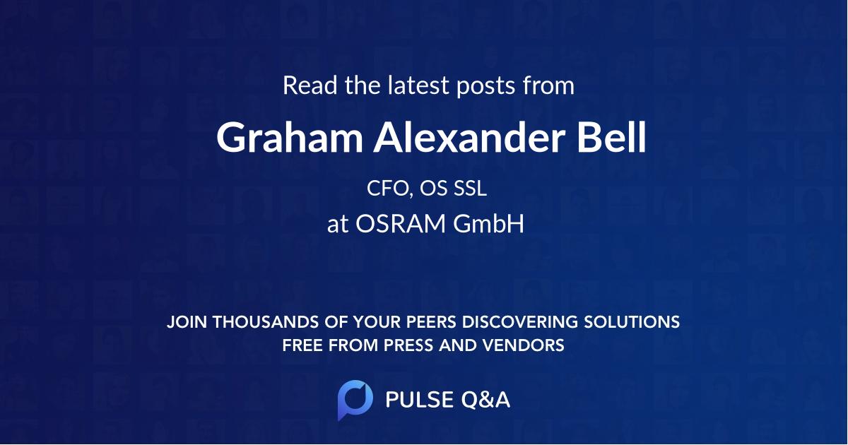 Graham Alexander Bell