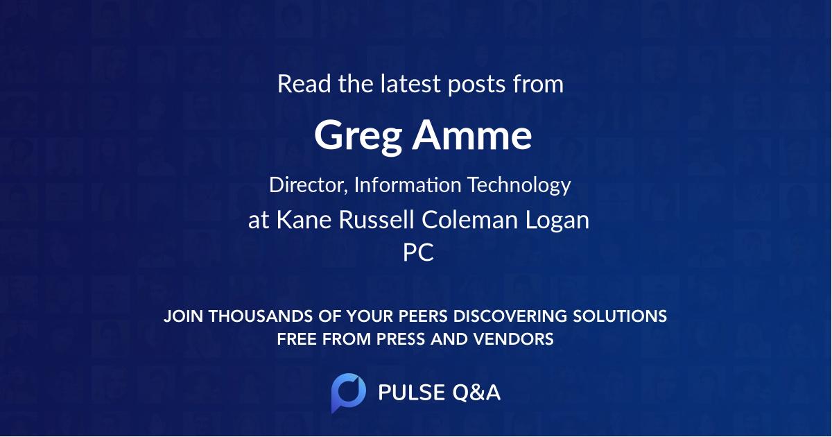 Greg Amme