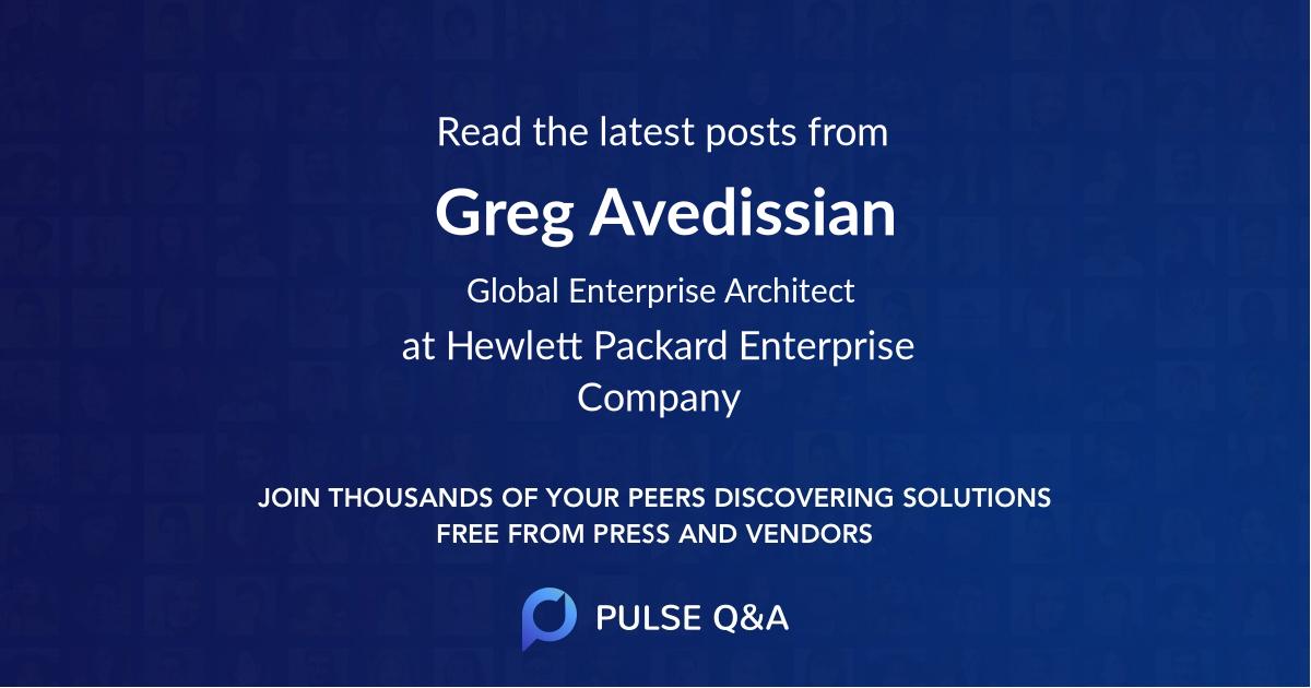 Greg Avedissian