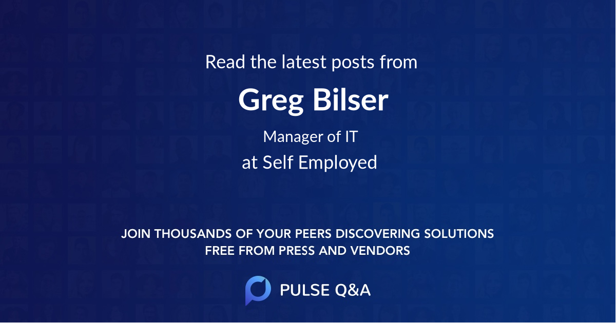Greg Bilser