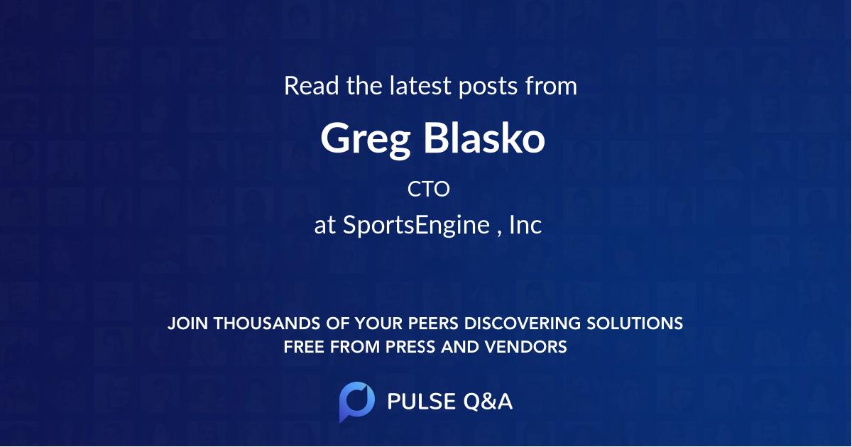 Greg Blasko