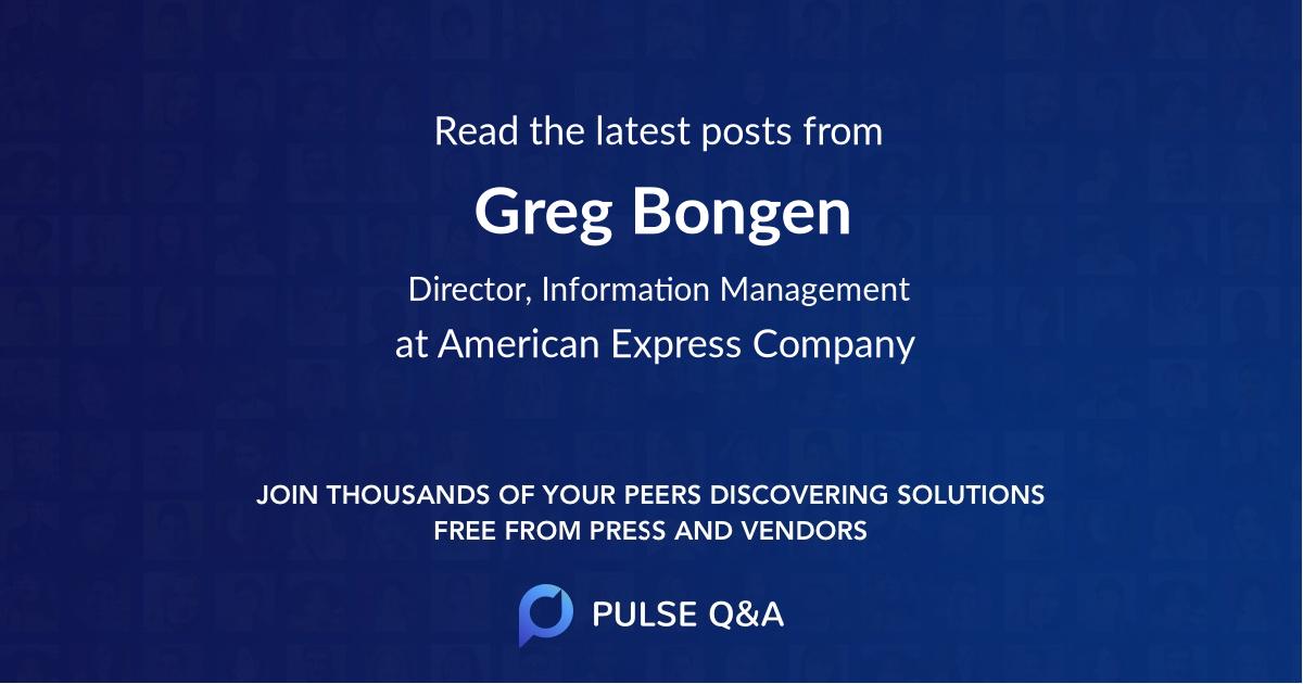 Greg Bongen
