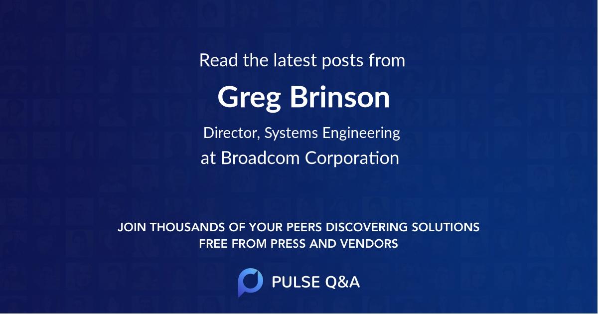 Greg Brinson