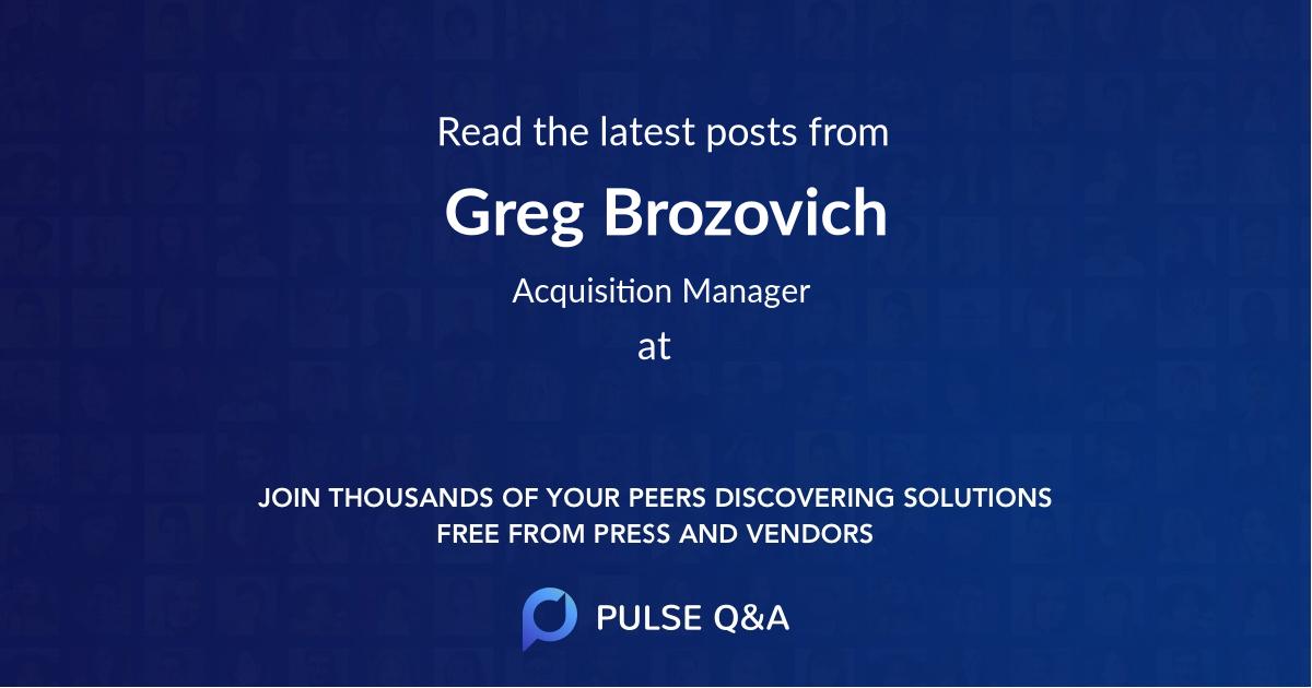 Greg Brozovich