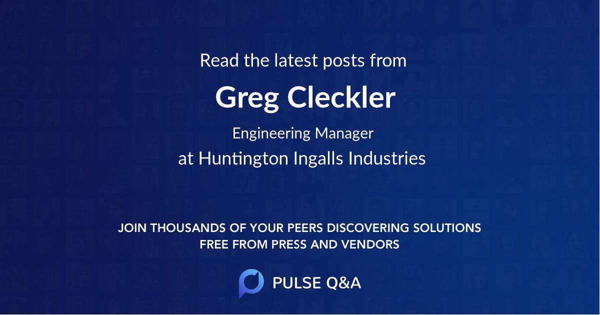 Greg Cleckler